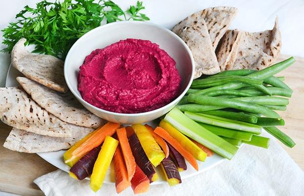 Healthy Super Bowl Snacks: Beet Hummus Recipe