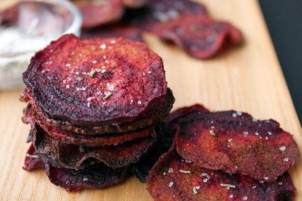 Healthy Super Bowl Snacks: Beet Chips Recipe