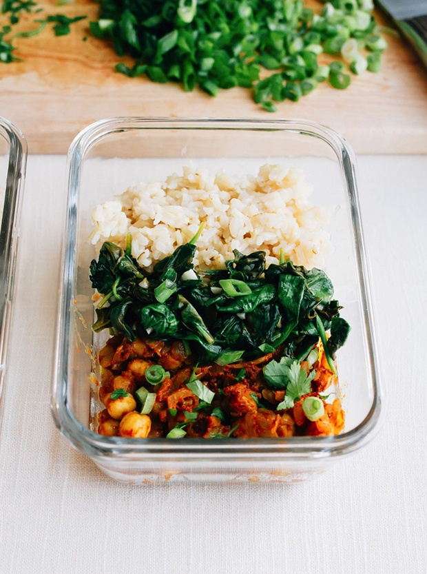Healthy Packed Lunches: Curried Chickpeas