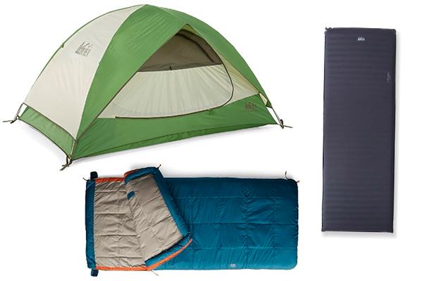 Camping Gear: REI Co-Op Camp Bundle with Tent, Sleeping Pad and Sleeping Bag