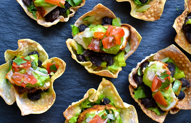 Healthy Super Bowl Snacks: Taco Cups