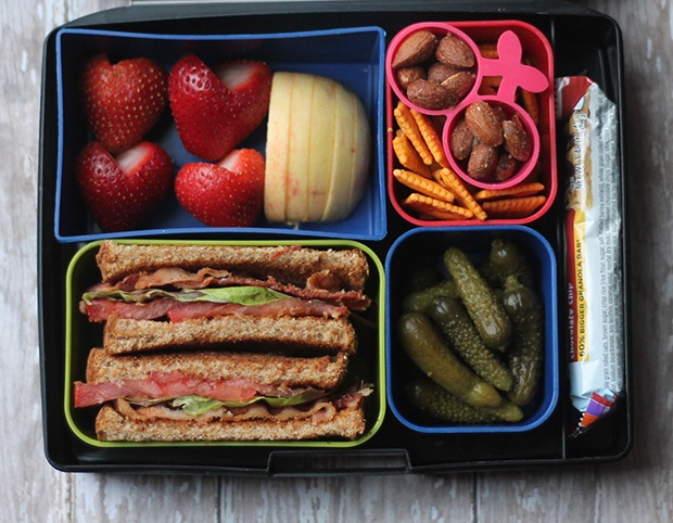 Healthy Packed Lunches: BLT Bento