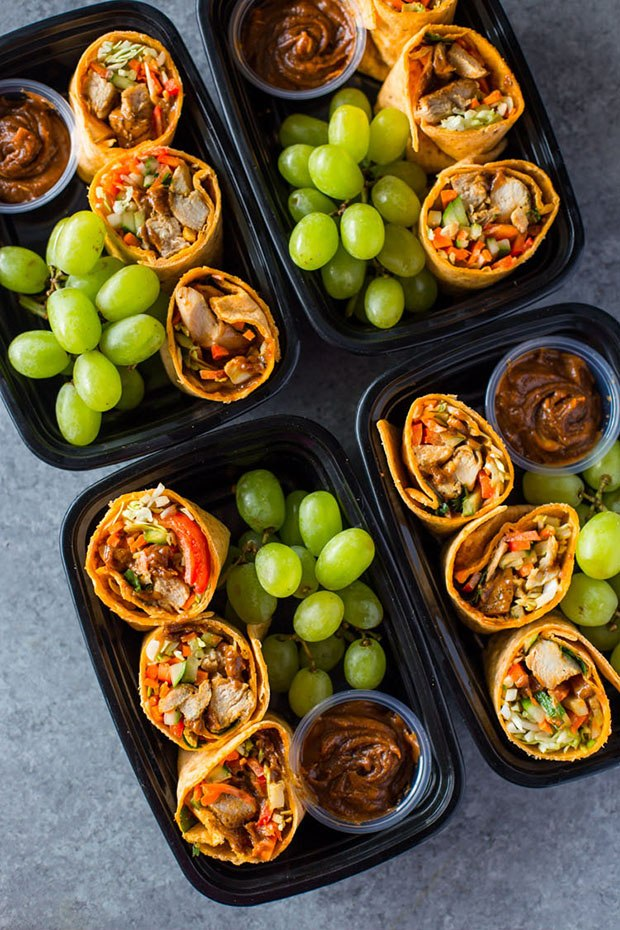 Healthy Packed Lunches: Thai Wraps